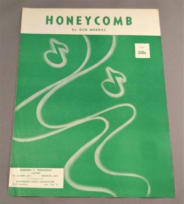HONEYCOMB Sheet Music by Bob Merrill © 1954