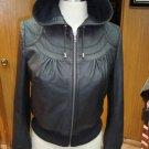 NWT Women's Hooded Leather Jacket Sheep Skin Nappa