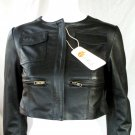 NWT Women's Cropped Bomber Leather jacket Style 2600