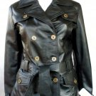 NWT Ladies 3 Button Blazer Leather Jacket S/2200 S - XL