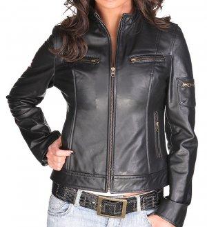 Women's Lambskin Leather Jacket Style 20F
