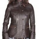 NWT Women's vintage style lambskin leather jacket style 32F