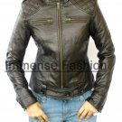 NWT Women's New Age Bomber Leather Jacket Style 52F