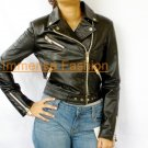 NWT Women's Classic Motorbike Leather Jacket Style 51F