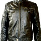 NWT Men's Biker Leather Jacket Style M20