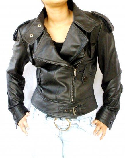 NWT Women's Motorbike Leather Jacket Style 7F