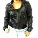 NWT Women's Bomber Style Leather Jacket Style 2100