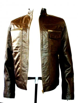 NWT Men's Vinatage Inspired Bomber Leather Jacket Style M5