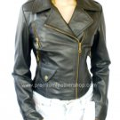 NWT Women's Motorbike Leather Jacket Style 2400 S-XL