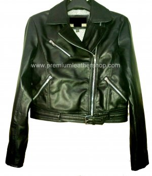 NWT Women's New Age Cropped Leather Jacket Style 54F