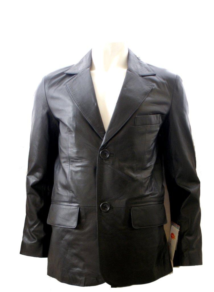 Men's 2 Button Classic Leather Blazer Style M80