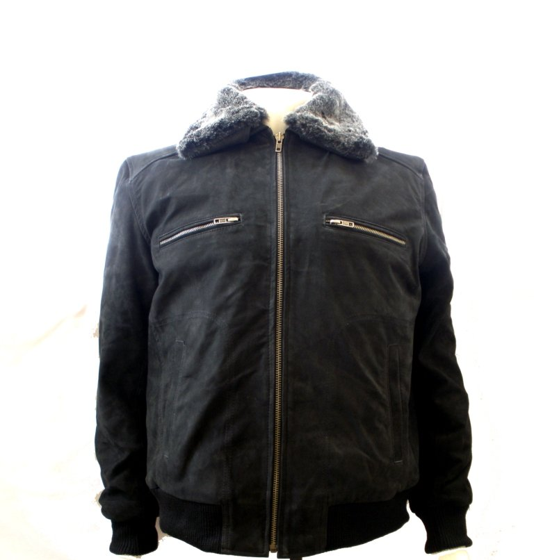 NWT Men's Classic Fur Bomber Leather Jacket Style M44