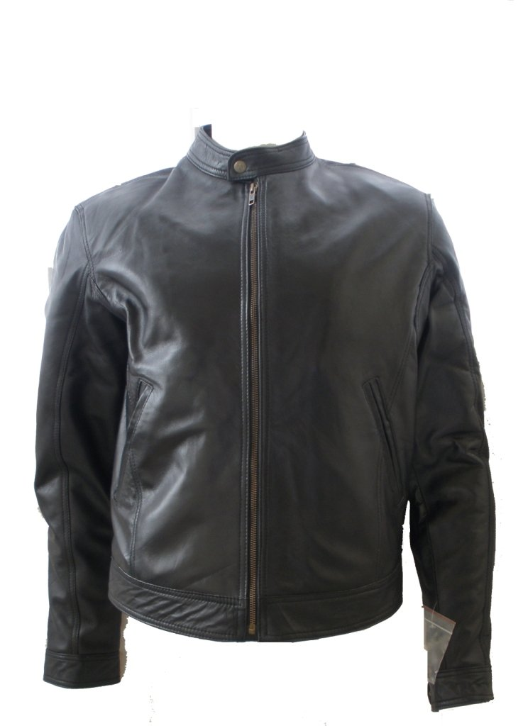 NWT Men's Classic Motor Bike Leather Jacket Style M38