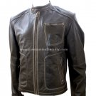 NWT Men's Retro Biker Leather Jacket Style M14
