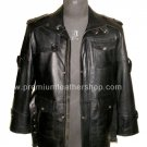 NWT Men's High Neck Bomber DNA Leather Jacket Style MD-13