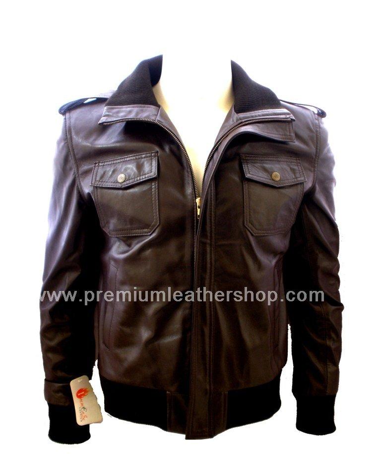 NWT Men's Bomber Dominance Leather Jacket Style M802