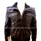 NWT Men's Bomber Dominance Leather Jacket Style M802