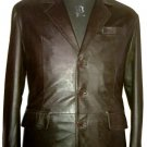 NWT Men's 3 Button Classic Leather Blazer Style M60 Sizes XS to 2XL