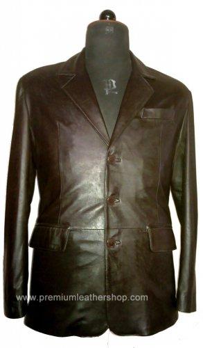 NWT Men's 3 Button Classic Leather Blazer Style M60 Sizes XS to 2XL