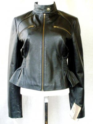 NWT Women's Cropped Skirt Leather Jacket Style 16F