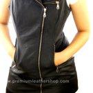 NWT Women's Sleeve Less Biker Leather Dress Style 66-F