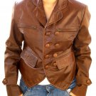 NWT Women's Boyfriend Leather Blazer Jacket Style 36F Sizes XS to 3XL