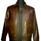 NWT Men's Vintage Classic Bomber Leather Jacket Style M96 Sizes XS to 4XL