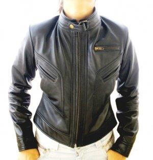 Women's Cropped Motorbike Leather Jacket Style 2900