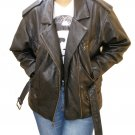 NWT Women's 6 pocket Motorbike Leather jacket Style 25F
