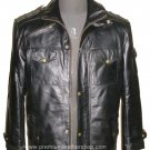 NWT Men's Highneck Bomber Leather Jacket Style M66