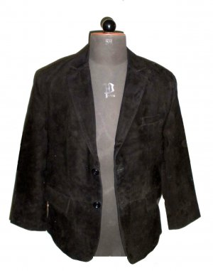NWT Men's 2 Button Classic Goat Suede Leather Blazer Style M81