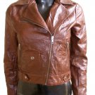 NWT Women's Cropped Motor Bike Leather Jacket Style 29F