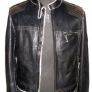 Men's Biker Leather jacket Style M25 Size L