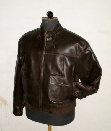 "Men's Bomber Leather Jacket Style M21 Big & Tall Size 4X (54"" Chest)"