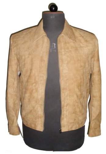 """Men's Bomber distressed color Snuff Leather Jacket Style M804 Size """"XL"""" Camel"""