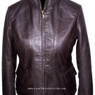 NWT Women's High Neck Casual Leather Jacket Style 2450