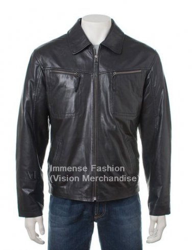 Men's Bomber Leather Jacket Style MD-45