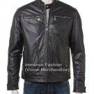 Men's Vintage Style Biker Leather Jacket Style MD-46