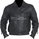 Men's Classic Bomber Leather Jacket Style MD-112
