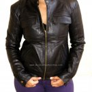 Women's Bomber Leather Jacket Style 28F Size M