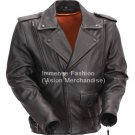 Men's Motorcycle Leather Jacket Style MD-52