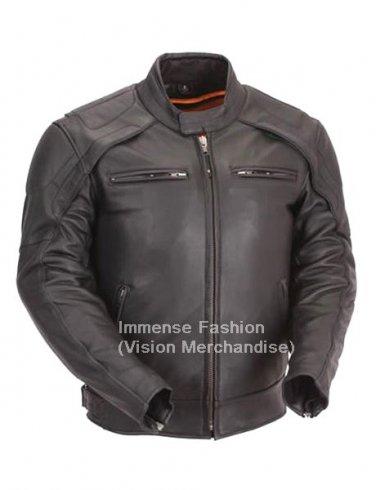 Men's Euro Biker Leather Jacket Style MD-56