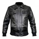 Men's Big & Tall Sizes Bomber Leather Jacket Style MD-58