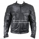 NWT Men's Street Biker Leather Jacket Style MD-132