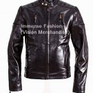 NWT Men's Biker Leather Jacket Style MD-100