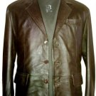 NWT Men's 3 Button Classic Leather Blazer Style M60 Size XL $120 + shipping or your best offer