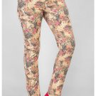 Women's Fifth Avenue Pink Denim Floral Print Jeans