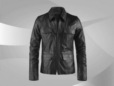 NWT Men's Casual Style Leather Jacket Style MD-160