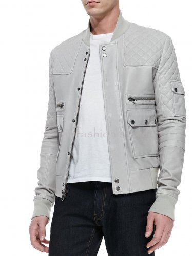 NWT Men's Leather Jacket Style 1