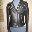 NWT Women's studded leather jacket style F-198